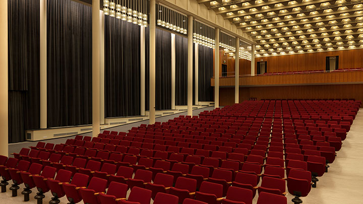 Effectively illuminating Concert hall while creating an amazing visual result with Philips ceiling lighting
