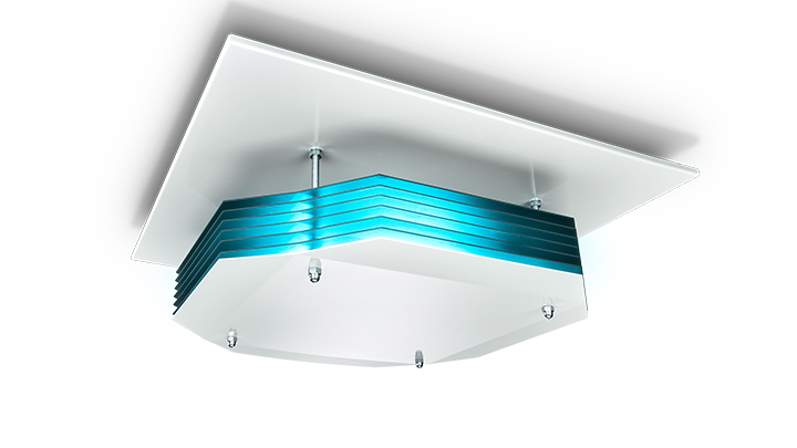 image of UV-C disinfection upper air ceiling mounted